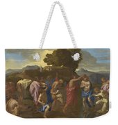 The Baptism Of Christ Weekender Tote Bag by Nicolas Poussin