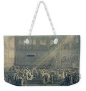 The Baptism Of The King Of Rome 1811-32 At Notre-dame, 10th June 1811, After 1811 Engraving Weekender Tote Bag