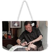 The Barber Shaves Another Customer 02 Weekender Tote Bag