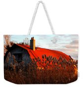 The Barn  At Sunset Weekender Tote Bag
