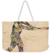The Baseball Player Weekender Tote Bag