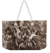 The Battle Of The Angels Weekender Tote Bag