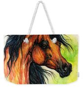 The Bay Arabian Horse 11 Weekender Tote Bag