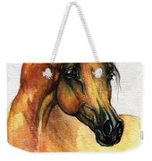 The Bay Arabian Horse 14 Weekender Tote Bag