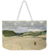 The Beach At Ambleteuse, 1869 Oil On Canvas Weekender Tote Bag