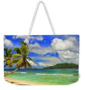 The Beach At Anse Gaulettes Weekender Tote Bag