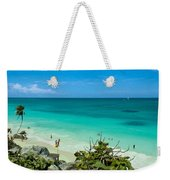 The Beach At The Tulum Ruins Weekender Tote Bag
