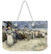 The Beach Berck Sur Mer Weekender Tote Bag by Patty Townsend Johnson