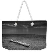 The Beach In Black And White Weekender Tote Bag