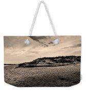 The Beach In Sepia Weekender Tote Bag