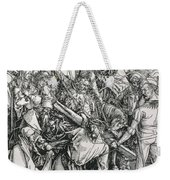 The Bearing Of The Cross From The 'great Passion' Series Weekender Tote Bag by Albrecht Duerer