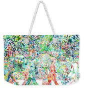 The Beatles - Abbey Road - Watercolor Painting Weekender Tote Bag