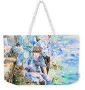 The Beatles At The Sea - Watercolor Portrait Weekender Tote Bag