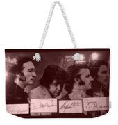 The Beatles In Old Photo Process At Fudruckers Weekender Tote Bag