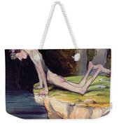 The Beautiful Narcissus Weekender Tote Bag by Honore Daumier