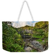 The Beautiful Scene Of The Seven Sacred Pools Of Maui. Weekender Tote Bag