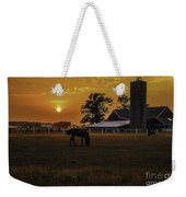 The Beauty Of A Rural Sunset Weekender Tote Bag by Mary Carol Story