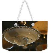 The Beauty Of A Vintage Glass Ceiling Light Weekender Tote Bag