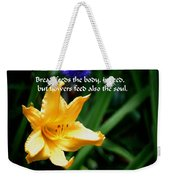 The Beauty Of Flowers Weekender Tote Bag