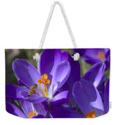 The Bee And The Crocus Weekender Tote Bag