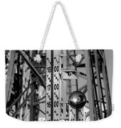 The Bells Of Coney Island In Black And White Weekender Tote Bag