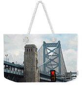 The Ben Franklin Bridge Weekender Tote Bag