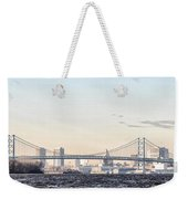 The Ben Franklin Bridge From Penn Treaty Park Weekender Tote Bag