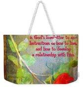 The Bible Weekender Tote Bag