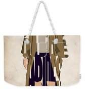 The Big Lebowski Inspired The Dude Typography Artwork Weekender Tote Bag