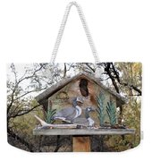 The Birdhouse Kingdom - The Geese A Swimming Weekender Tote Bag