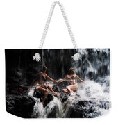 The Birth Of The Double Star. Anna At Eureka Waterfalls. Mauritius. Tnm Weekender Tote Bag