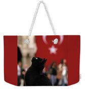 The Black Cat Weekender Tote Bag