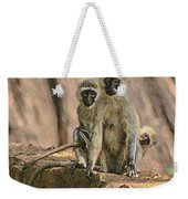The Black-faced Vervet Monkey Weekender Tote Bag