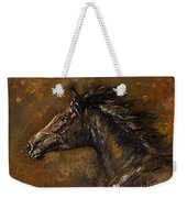 The Black Horse Oil Painting Weekender Tote Bag