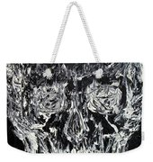 The Black Skull - Oil Portrait Weekender Tote Bag