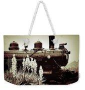 The Black Steam Engine Weekender Tote Bag