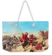 The Black Watch At The Battle Weekender Tote Bag by Henri-Louis Dupray