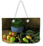 The Blue Clay Pot Weekender Tote Bag