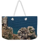 The Blue Domed Church At The Water S Weekender Tote Bag