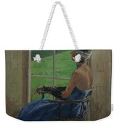 The Blue Dress, 2009 Oil On Canvas Weekender Tote Bag
