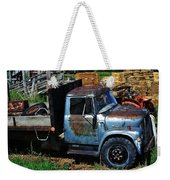 The Blue Farm Truck Weekender Tote Bag