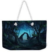 The Blue Forest Weekender Tote Bag by Cassiopeia Art
