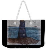 The Blue Lighthouse Weekender Tote Bag