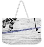The Blue Line Weekender Tote Bag by Karol Livote