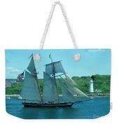 American Tall Ship Sails Past Mcnabs Island Weekender Tote Bag