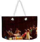 The Bookseller - New York City Street Scene - Street Vendor Weekender Tote Bag