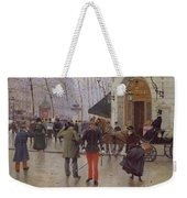 The Boulevard Des Capucines And The Vaudeville Theatre Weekender Tote Bag