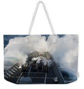 The Bow Of Uss Cowpens Plows Weekender Tote Bag