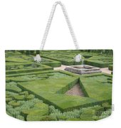The Boxwood Garden At Chateau Villandry Weekender Tote Bag