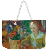 The Breakfast Porch Weekender Tote Bag by William James Glackens